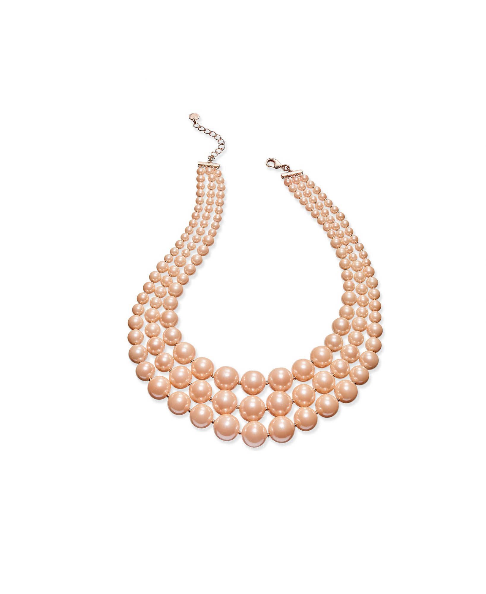 Charter Club Imitation Pearl Three-Row Collar Necklace