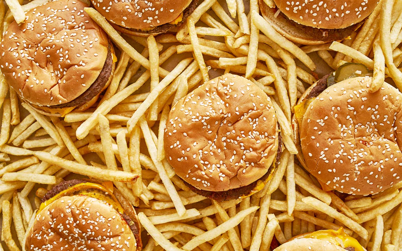 Hamburgers and French Fries