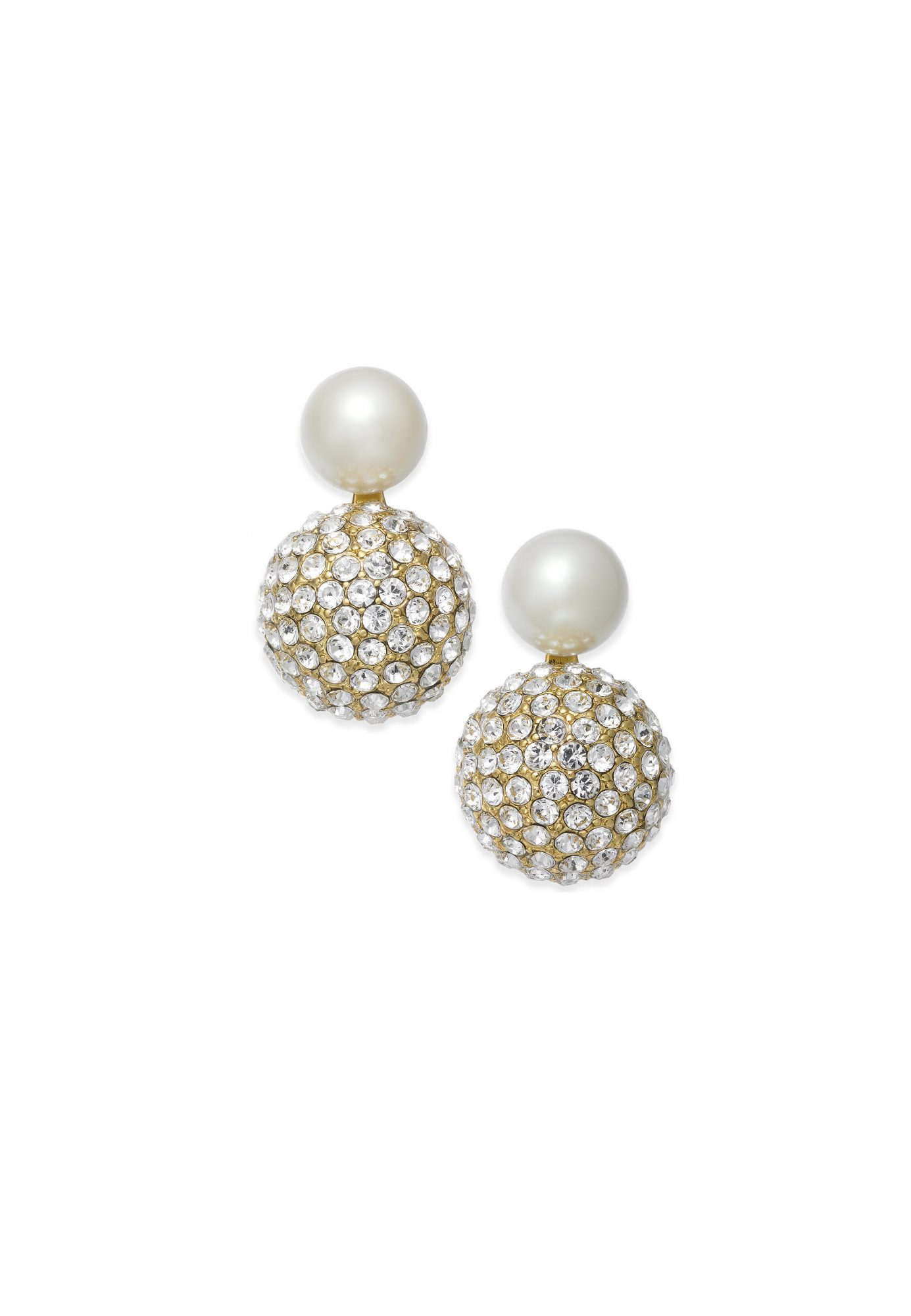 Kate Spade New York Gold-Tone Imitation Pearl and Fireball Drop Earrings