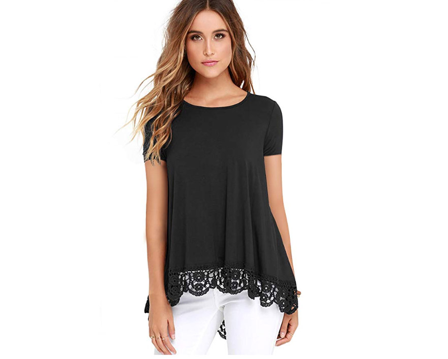 Lace Trimmed Tunic