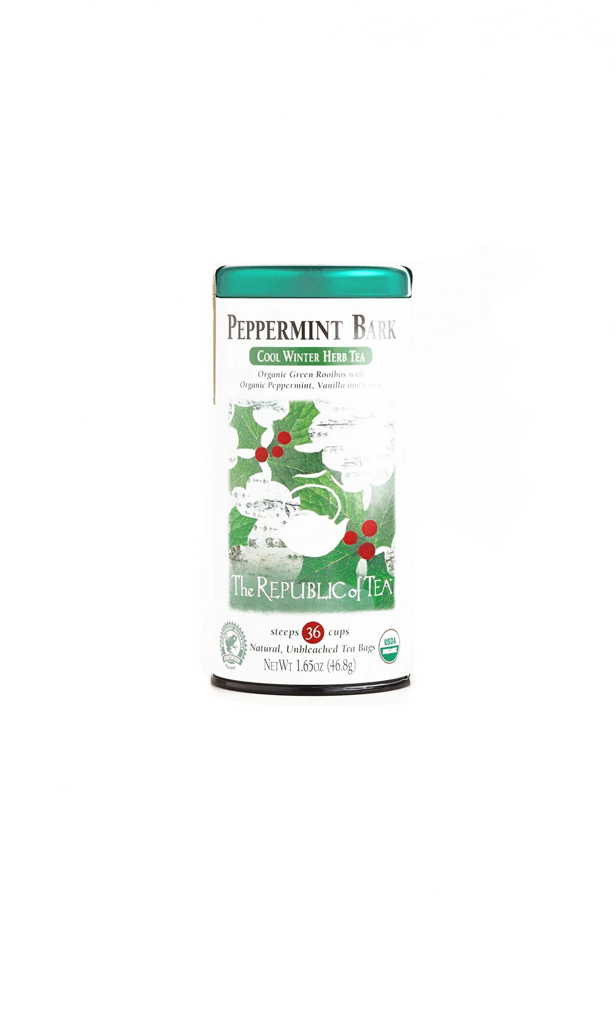 The Republic of Tea Peppermint Bark Cool Winter Herb Tea