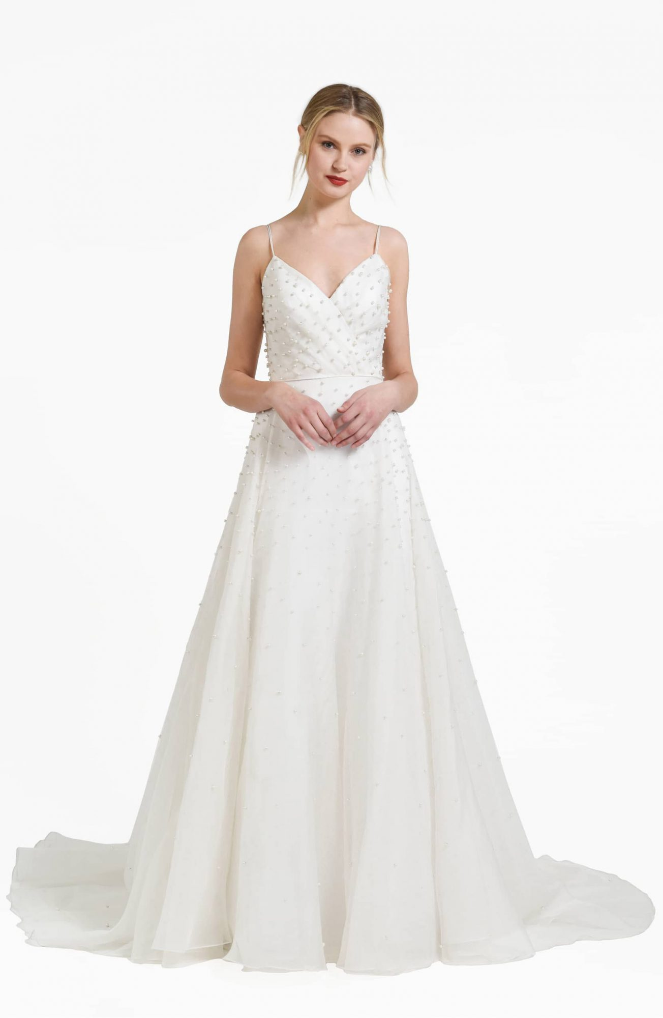 Presley Beaded Organza A-Line Gown