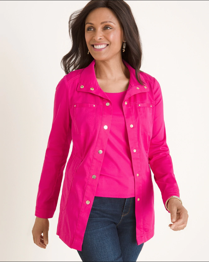 Chicos Luxe Twill Utility Jacket