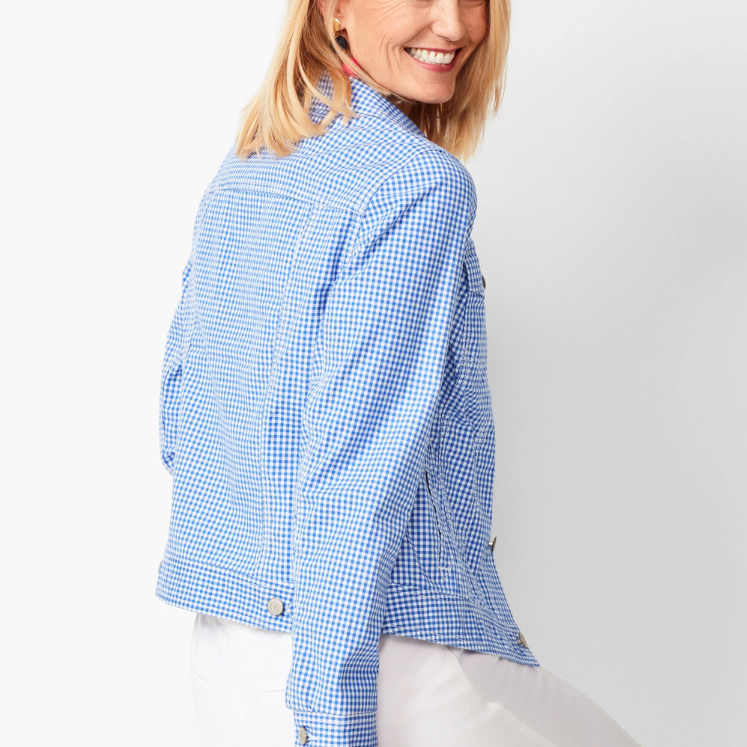 Classic Jean Jacket in Gingham
