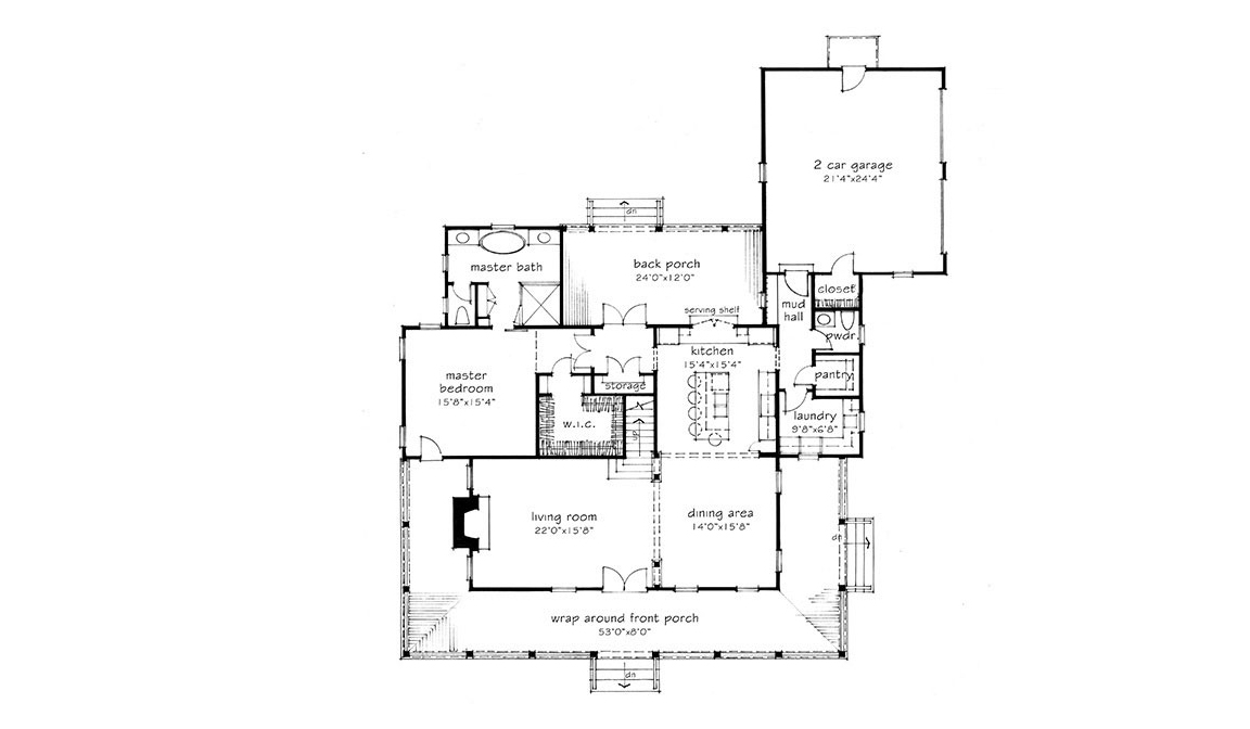 American Farmhouse Floor Plan
