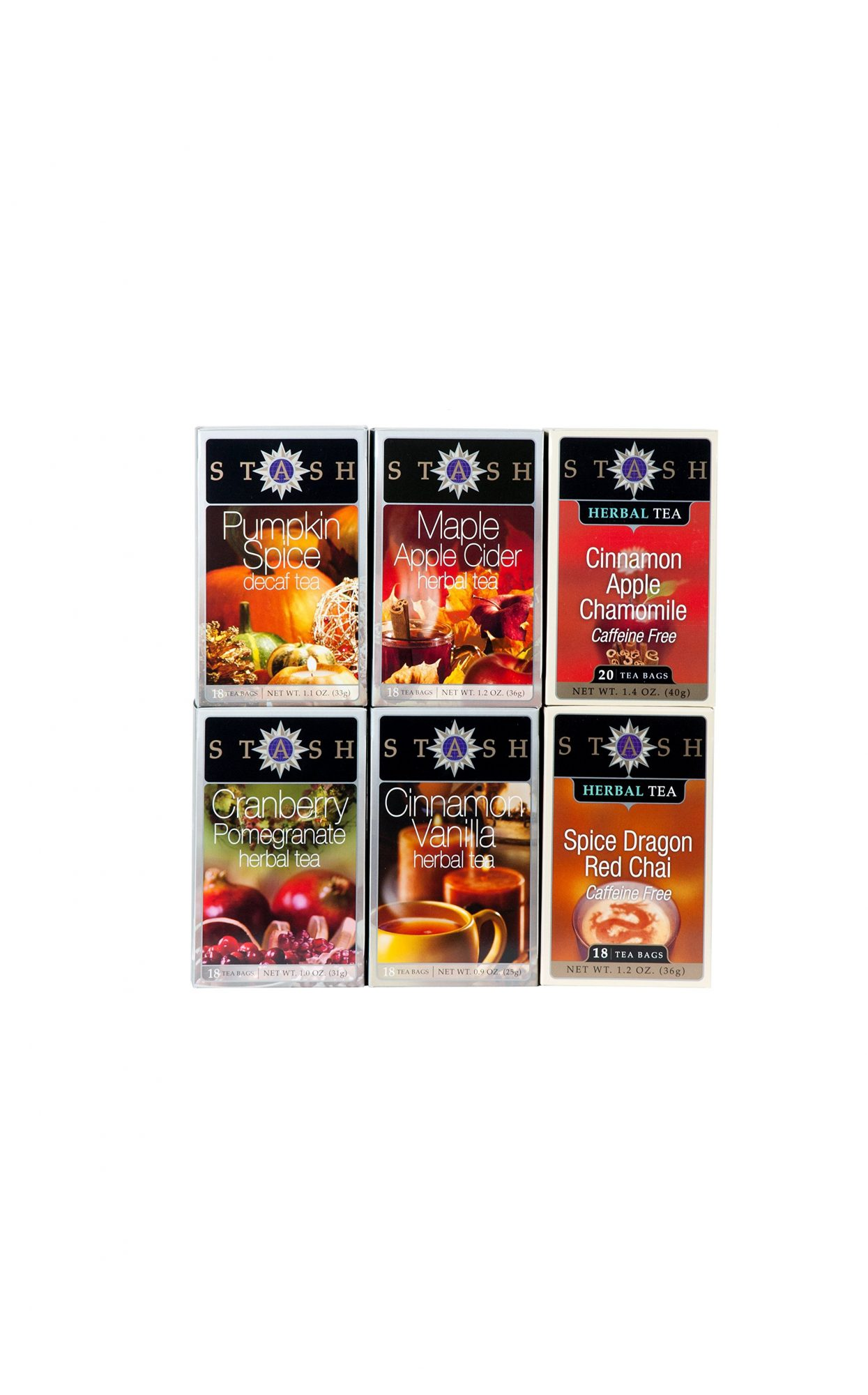Stash Tea 6-Flavor Assortment for Fall