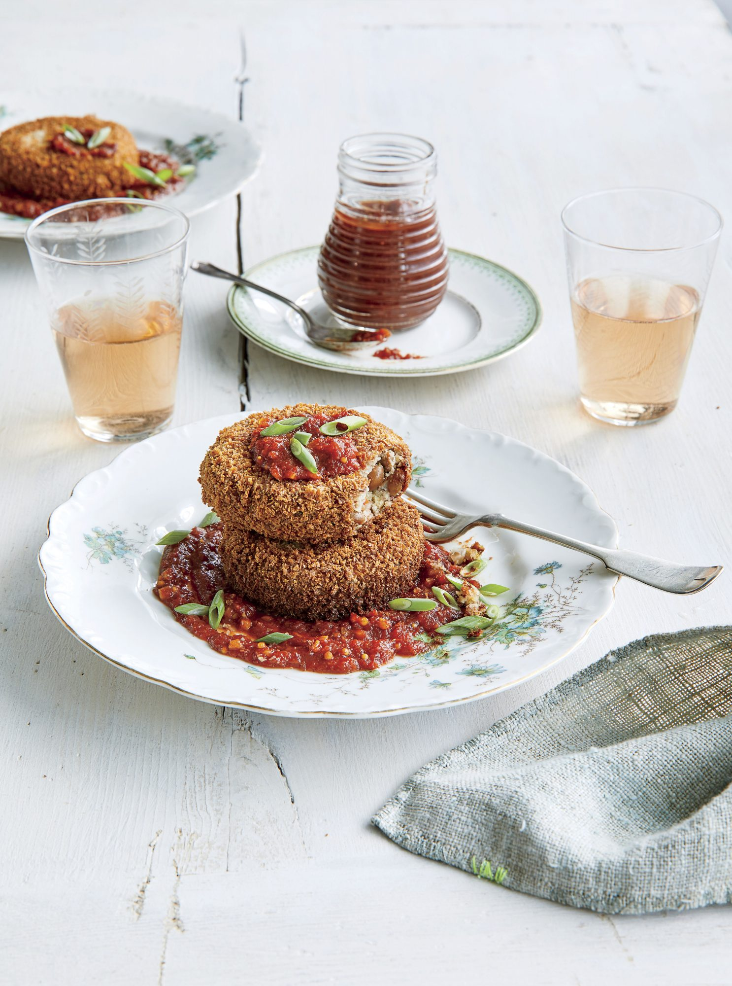 Field Pea Cakes with Tomato-Ginger Jam