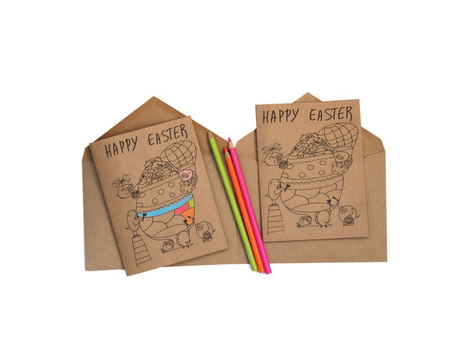 Easter Coloring Cards