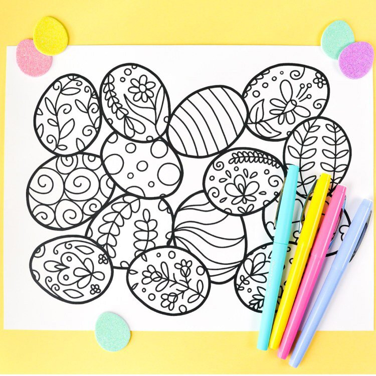 Easter Coloring Pages To Keep Kids Entertained All Day Long Southern Living