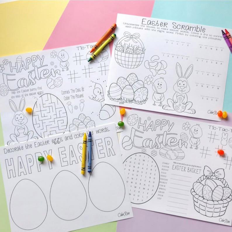 Easter Coloring Placemats