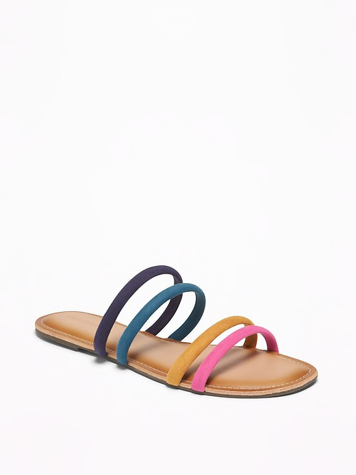 Tubular Faux-Suede Sandals