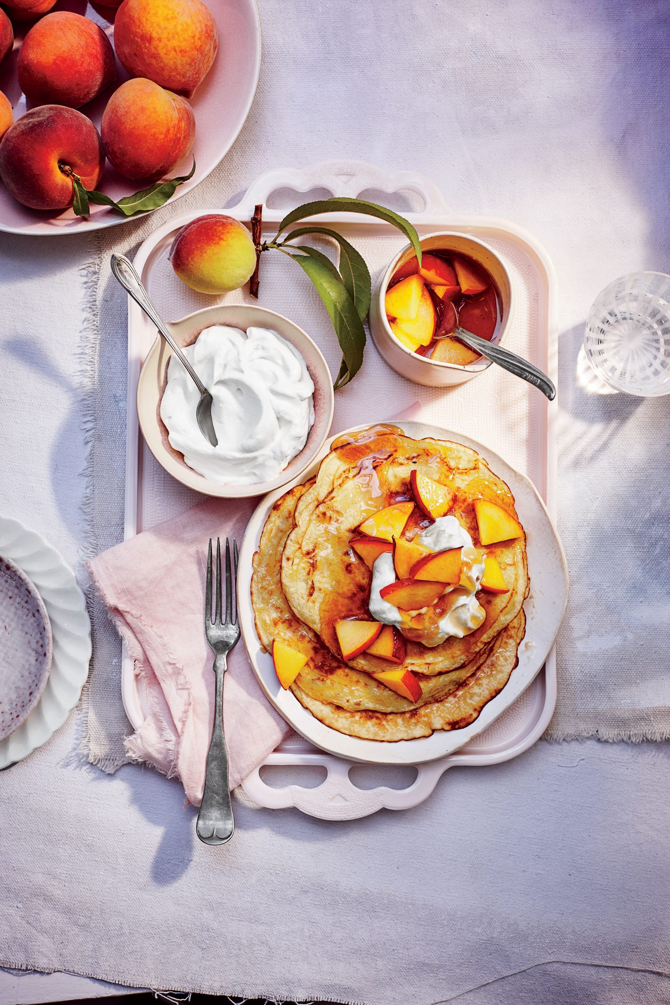 Peaches-and-Cream Pancakes Recipe