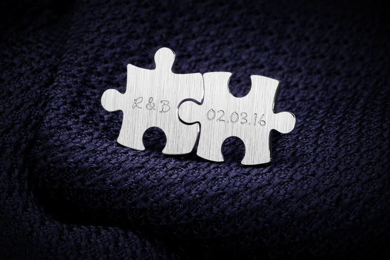 Personalized Puzzle Piece Cufflinks