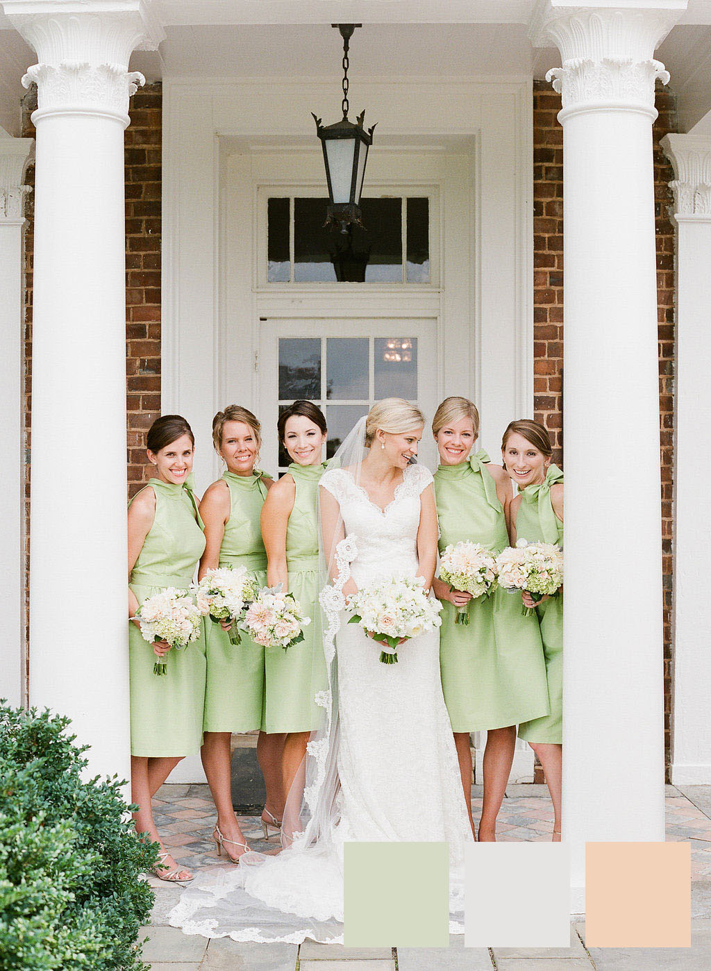 Pastel Green and Ivory