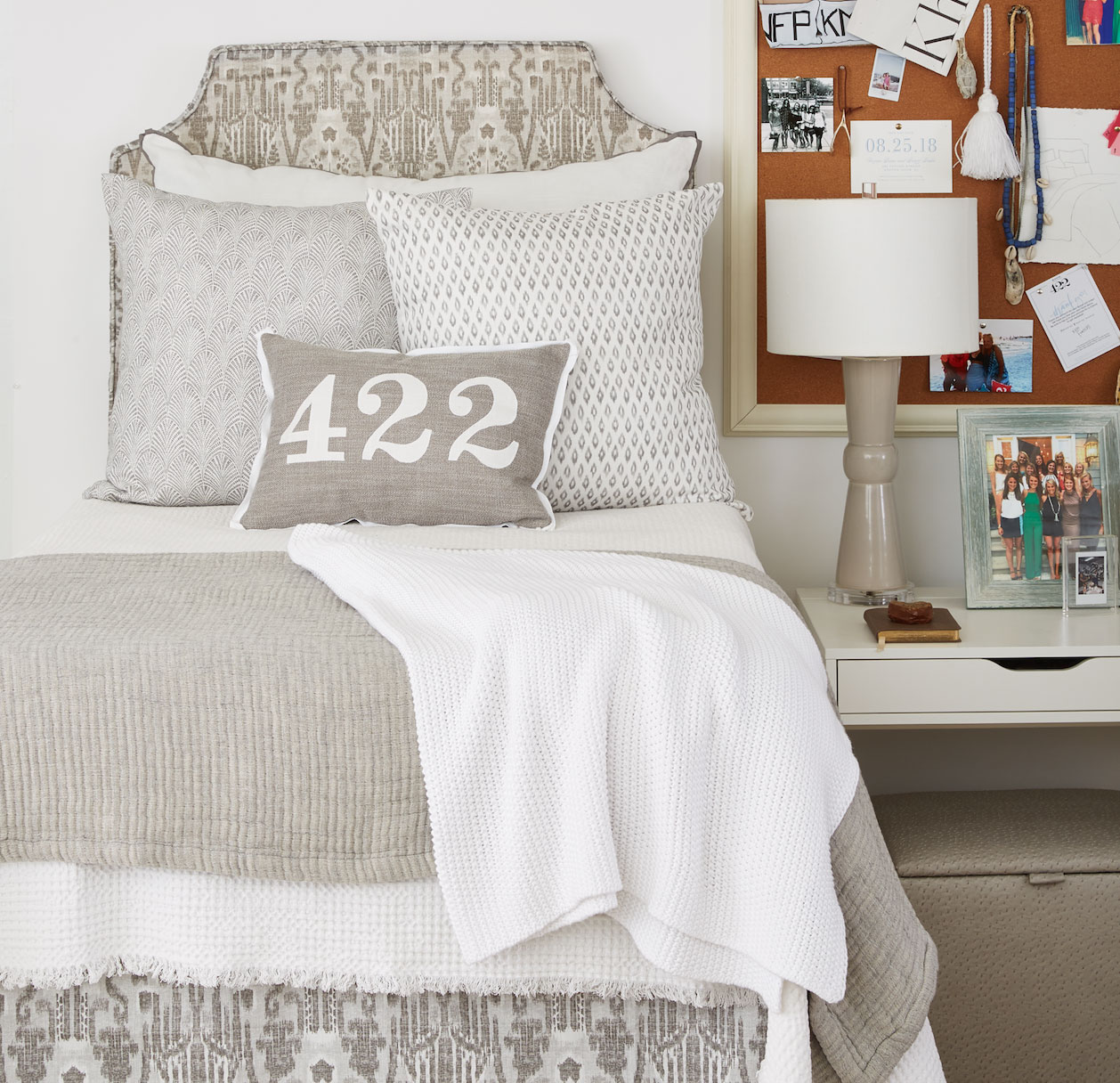 Kelly Pewter Headboard