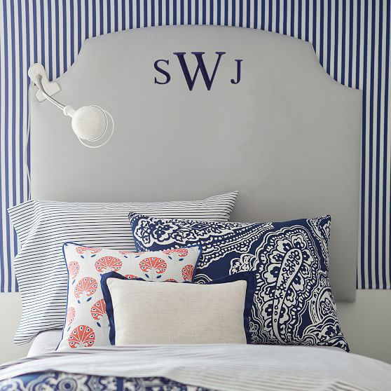 No Nails Scallop Faux Headboard
