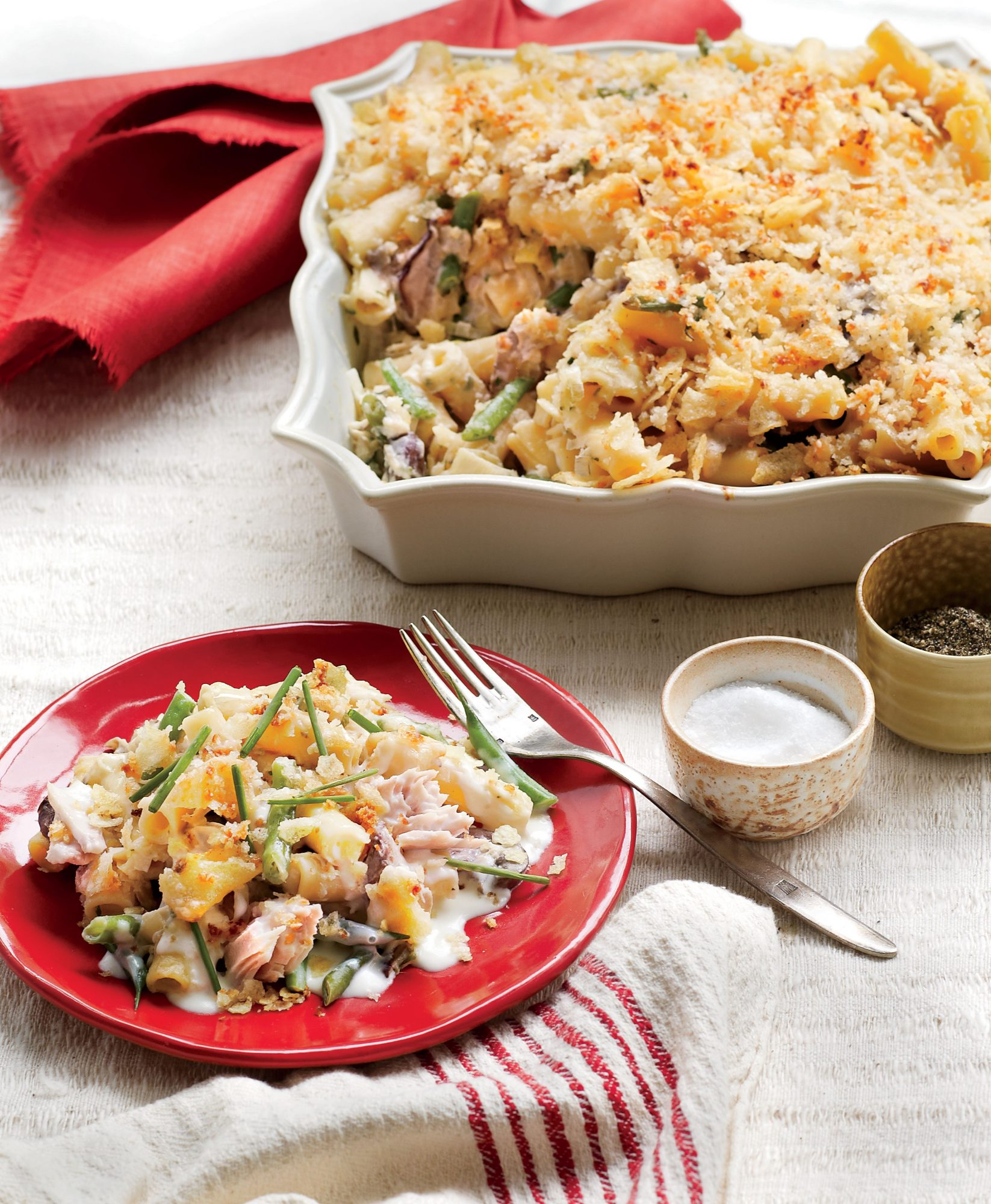 New Tuna Casserole with Potato Chips