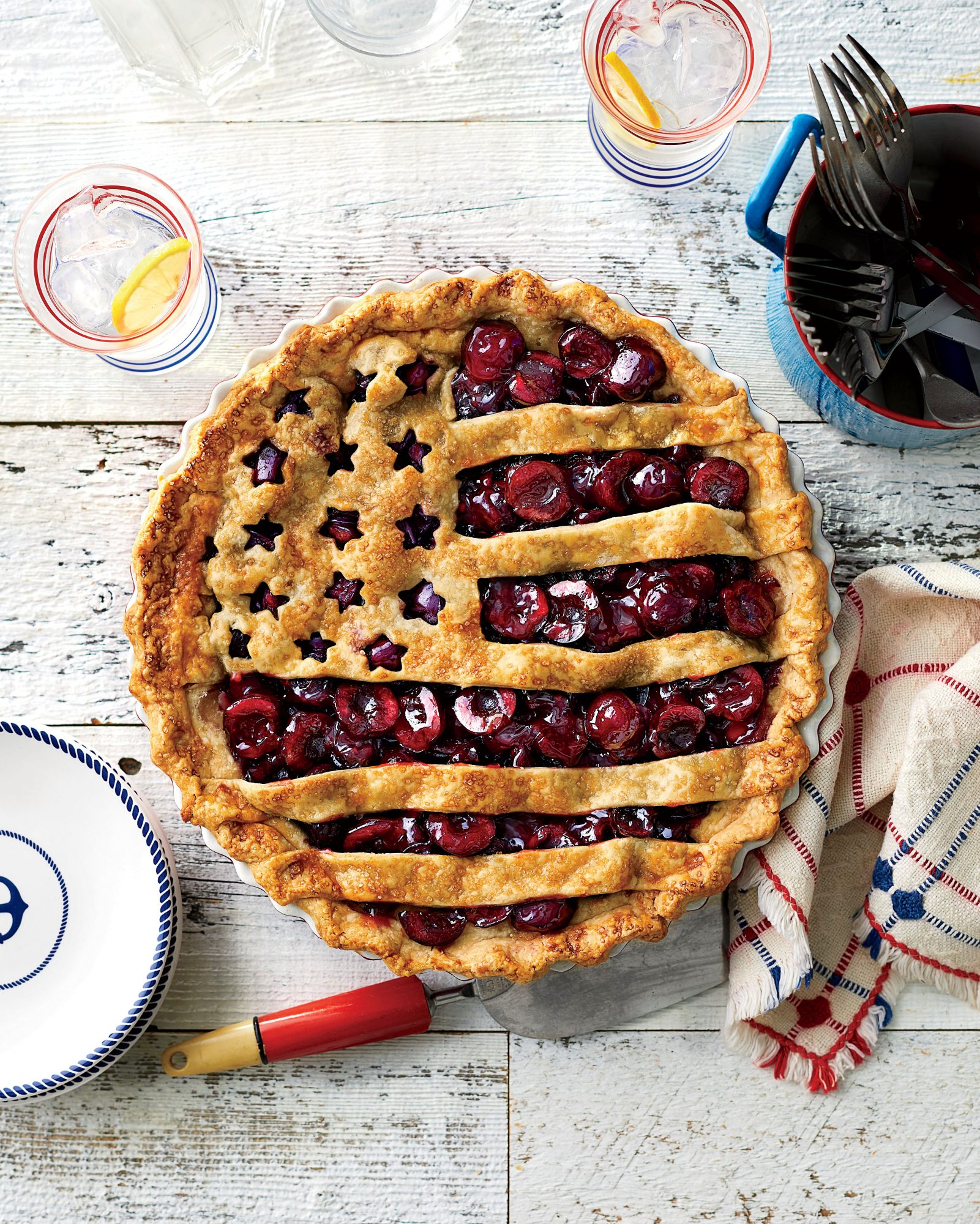 July: Cherry Flag Pie Recipe