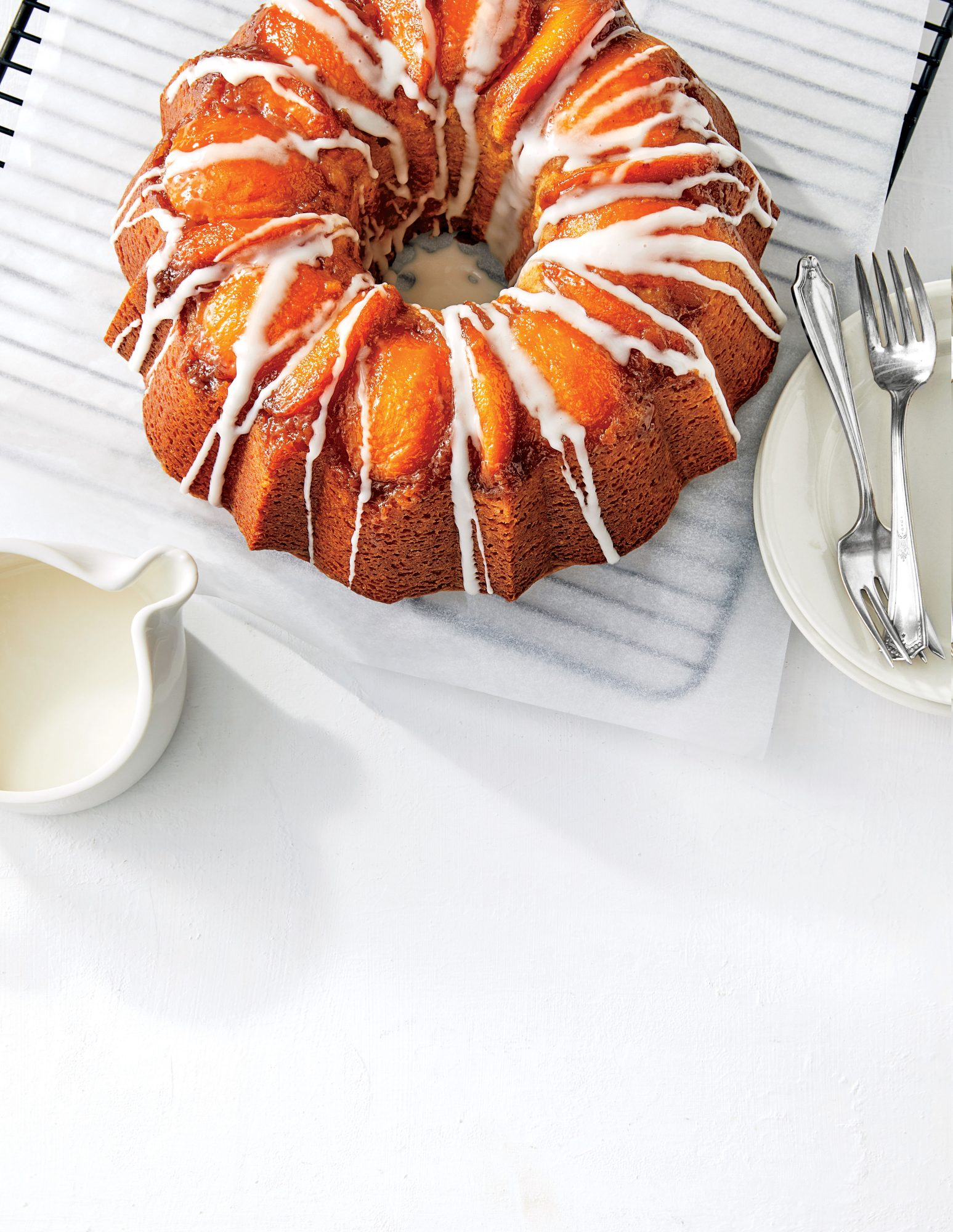 Peach-Bourbon Upside-Down Bundt Cake Recipe Pam Lolley