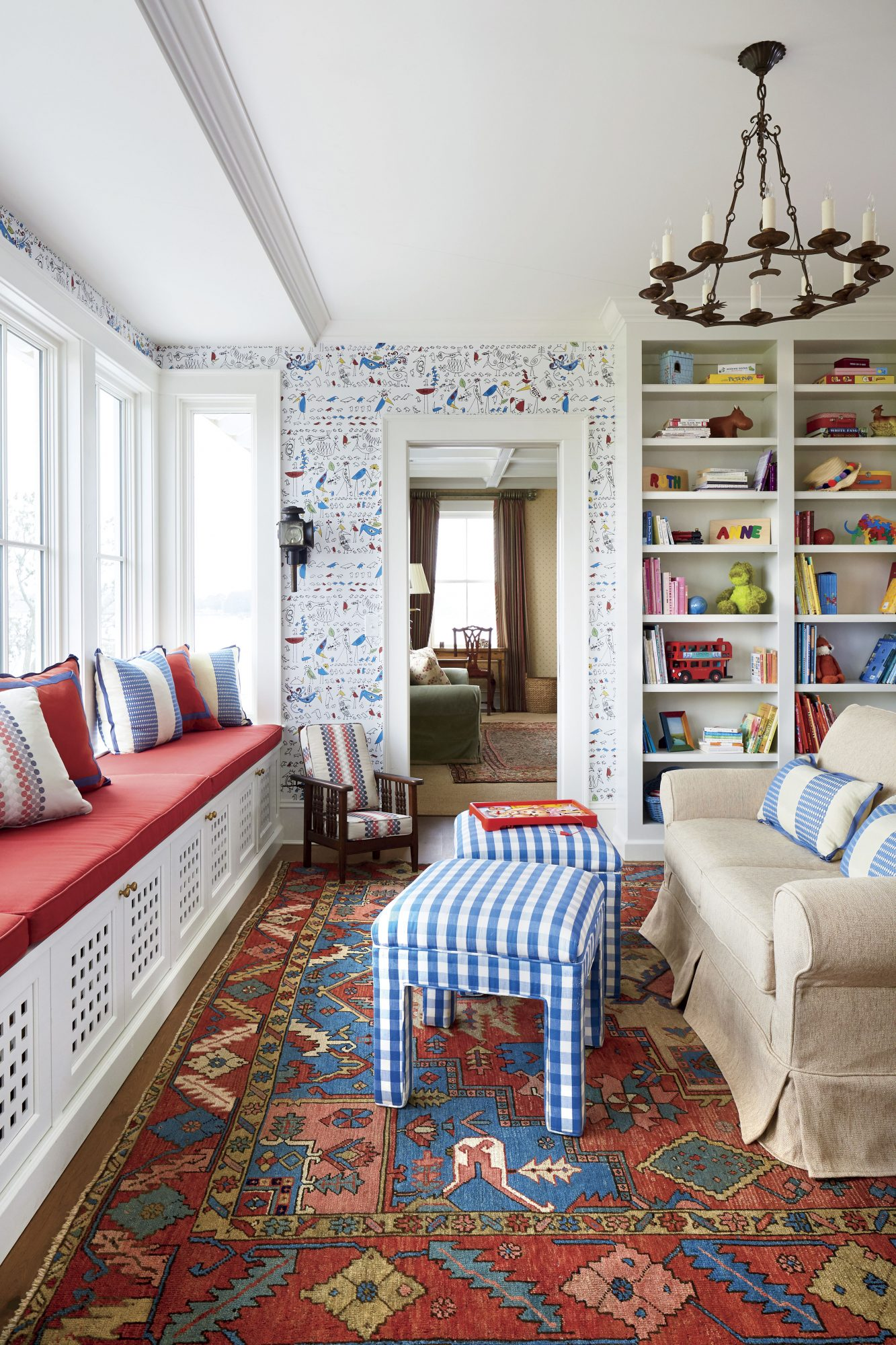 Florida Cracker Style Home Play Room