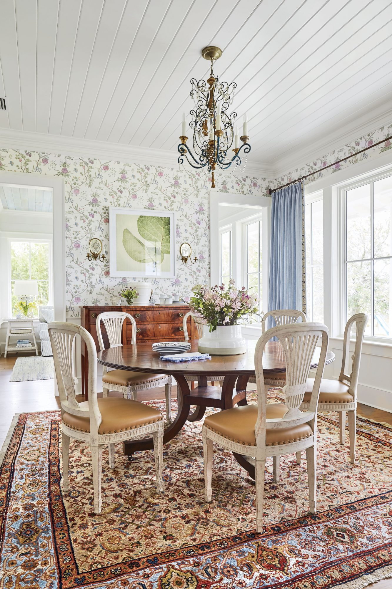 Florida Cracker Style Home Dining Room