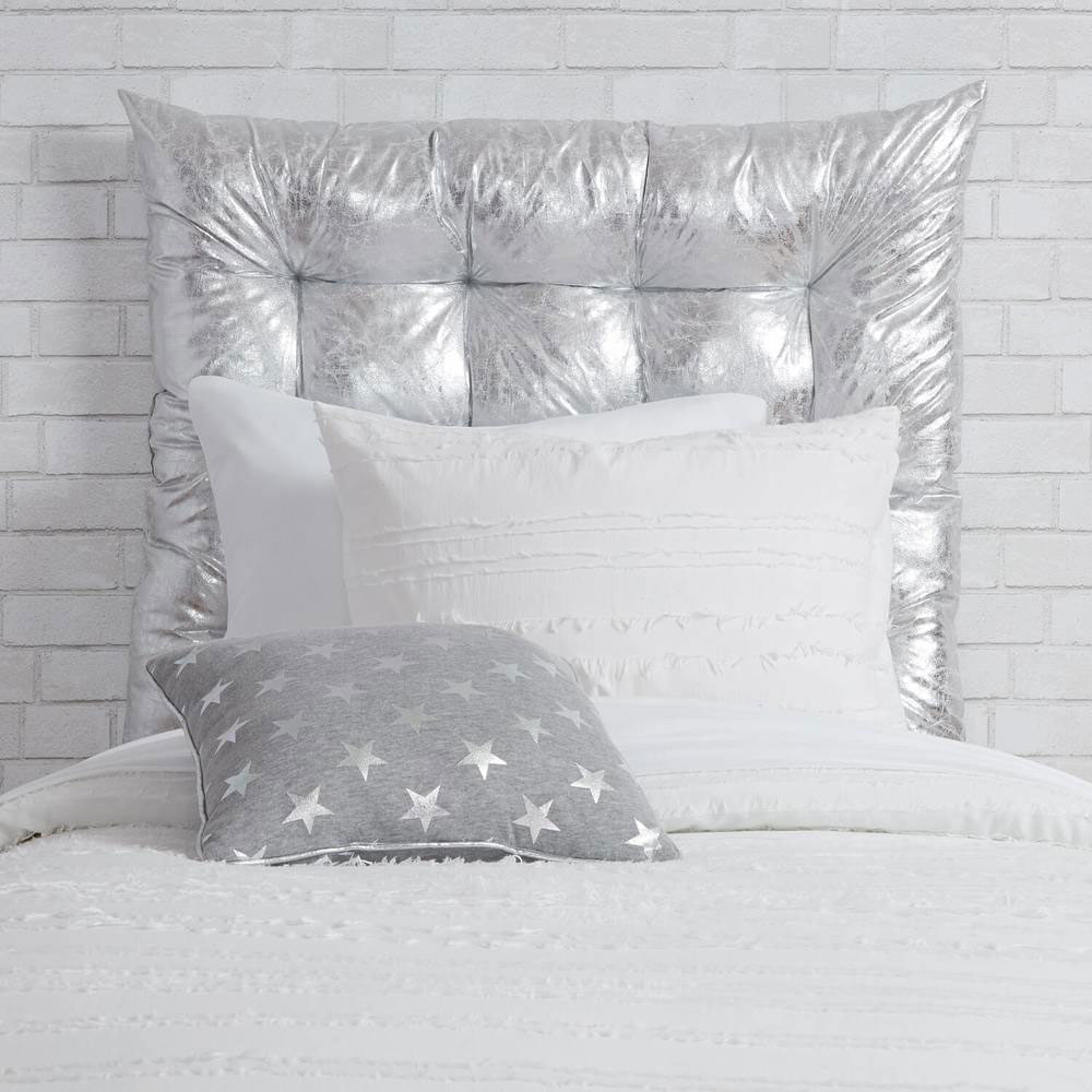 Twin/Twin XL Metallic Tufted Headboard Cushion