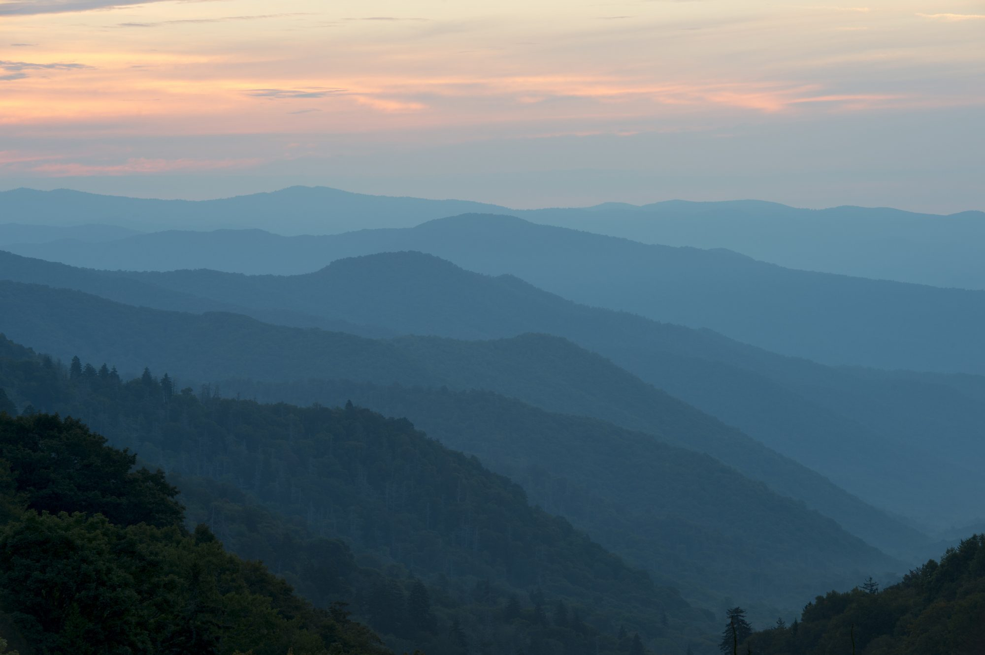 Great Smoky Mountains National Park from NC