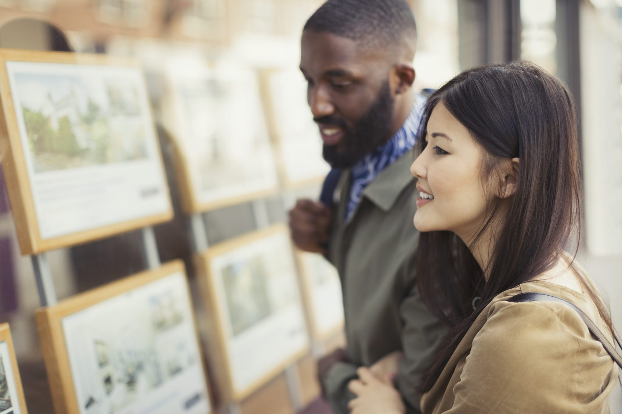 Couple Looking at Real Estate