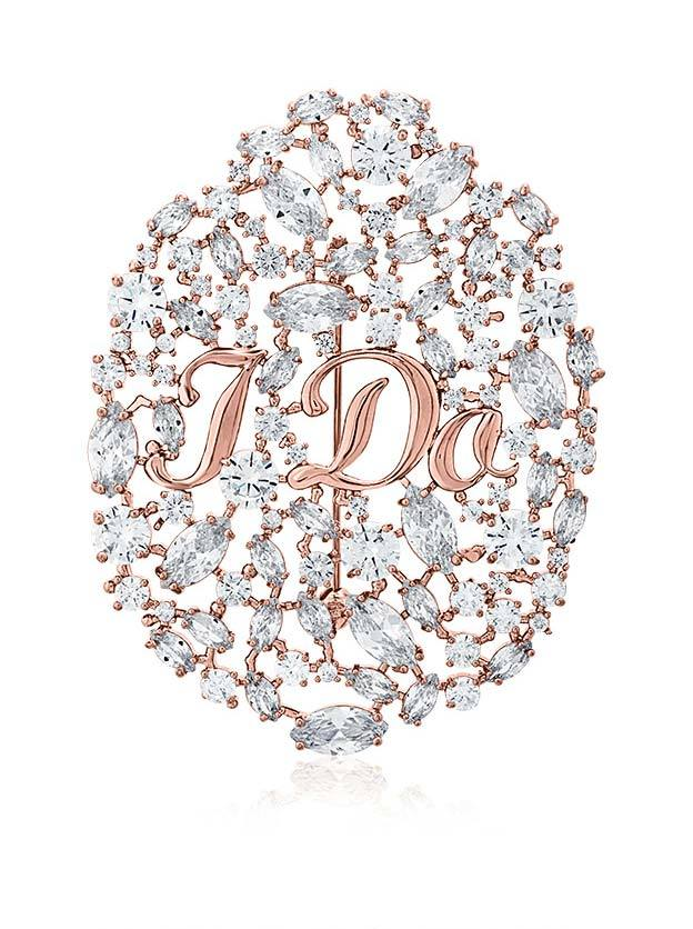 "ZAXIE ""I Do"" CZ Bridal Pin, $80"