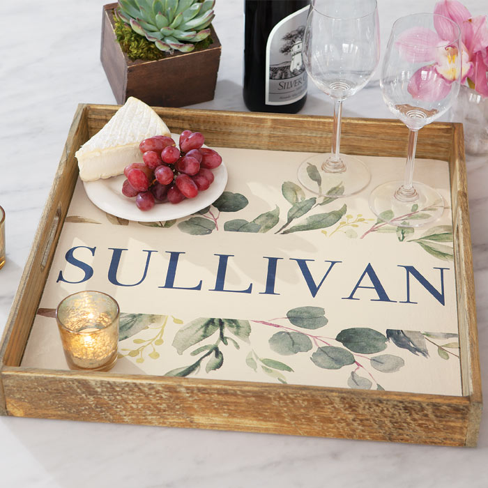 Olive & Cocoa Jardin Personalized Tray, $148