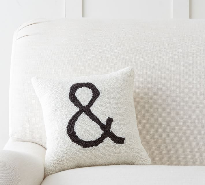 Ampersand Hook & Loop Pillow