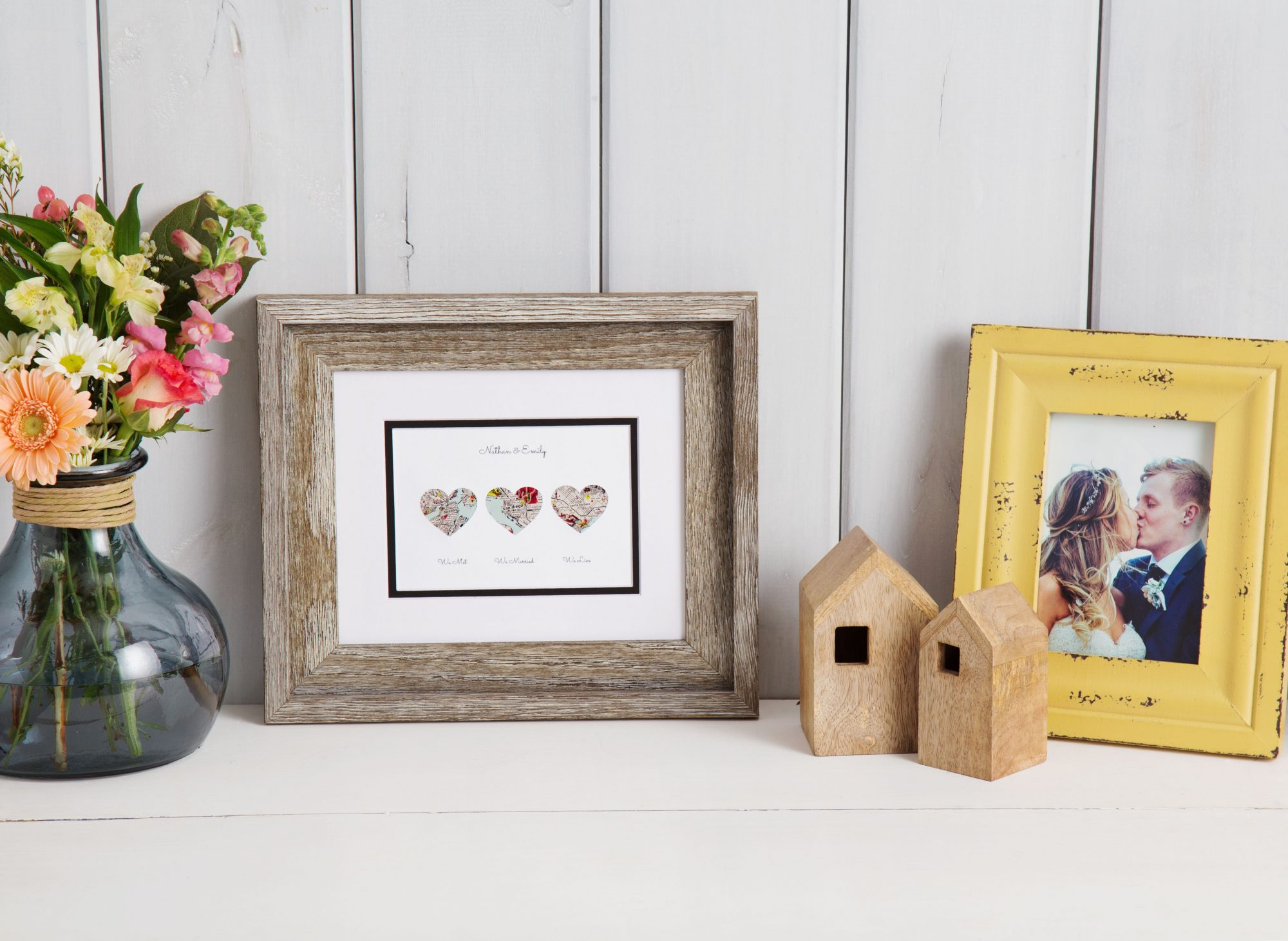 The Grommet Paper'd Moments Personalized Map Housewarming Art