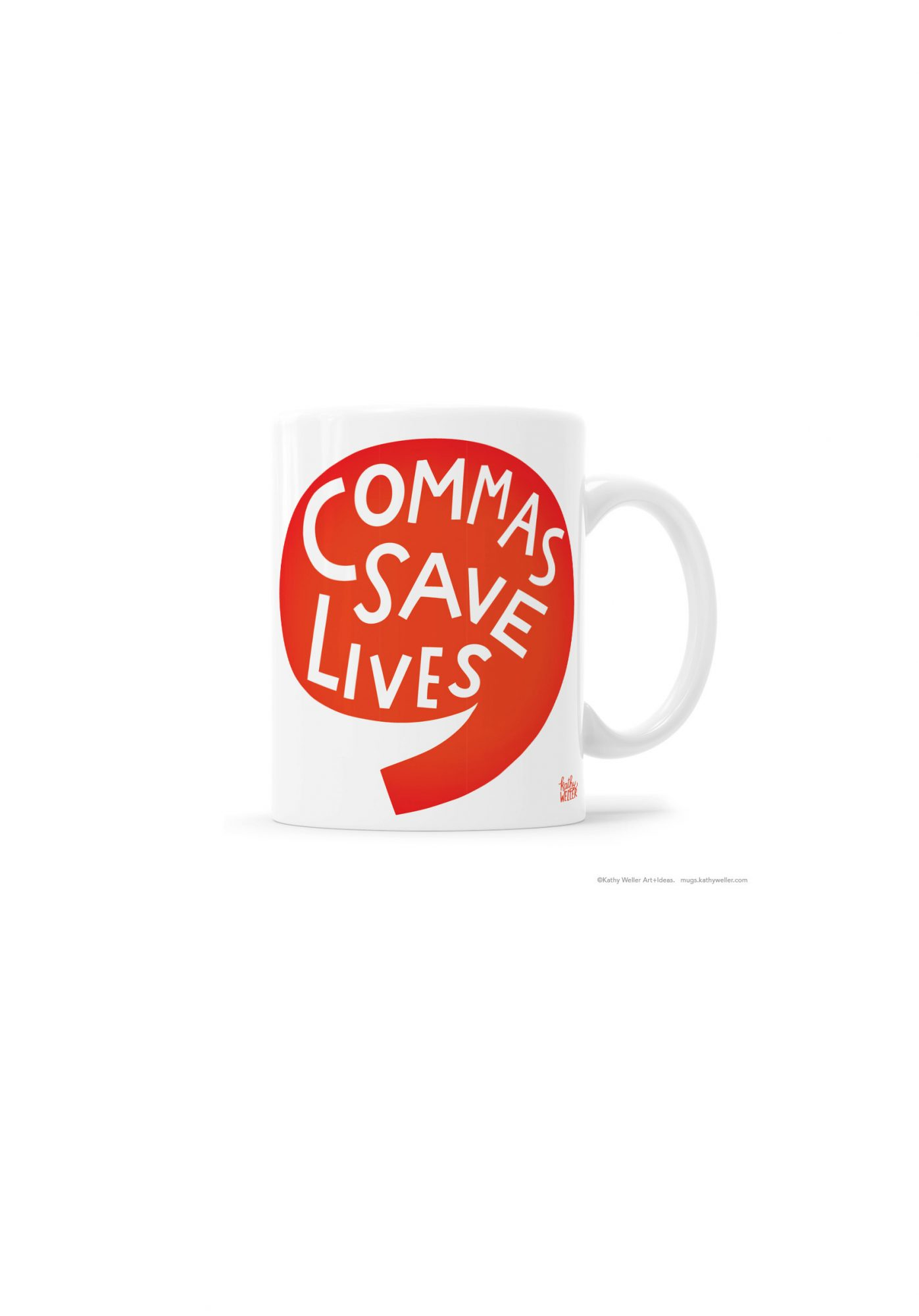 Commas Save Lives Mug