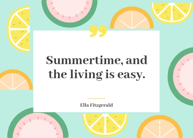 Cute Summer Quotes from Songs