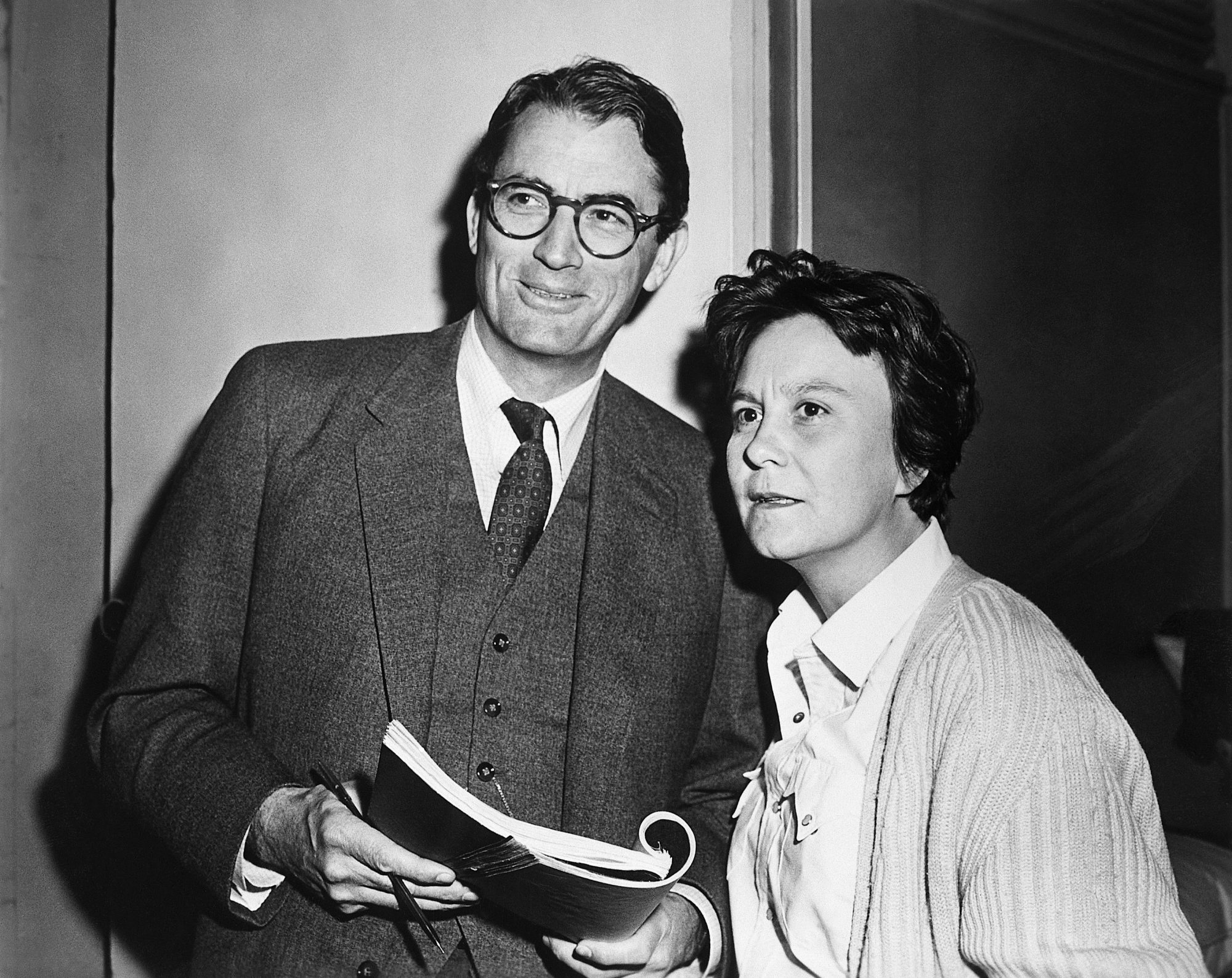 Harper Lee and Gregory Peck