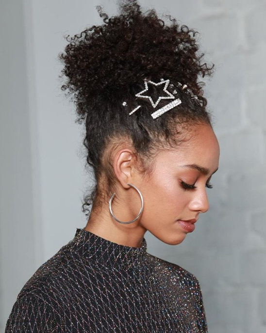 Curly Topknot