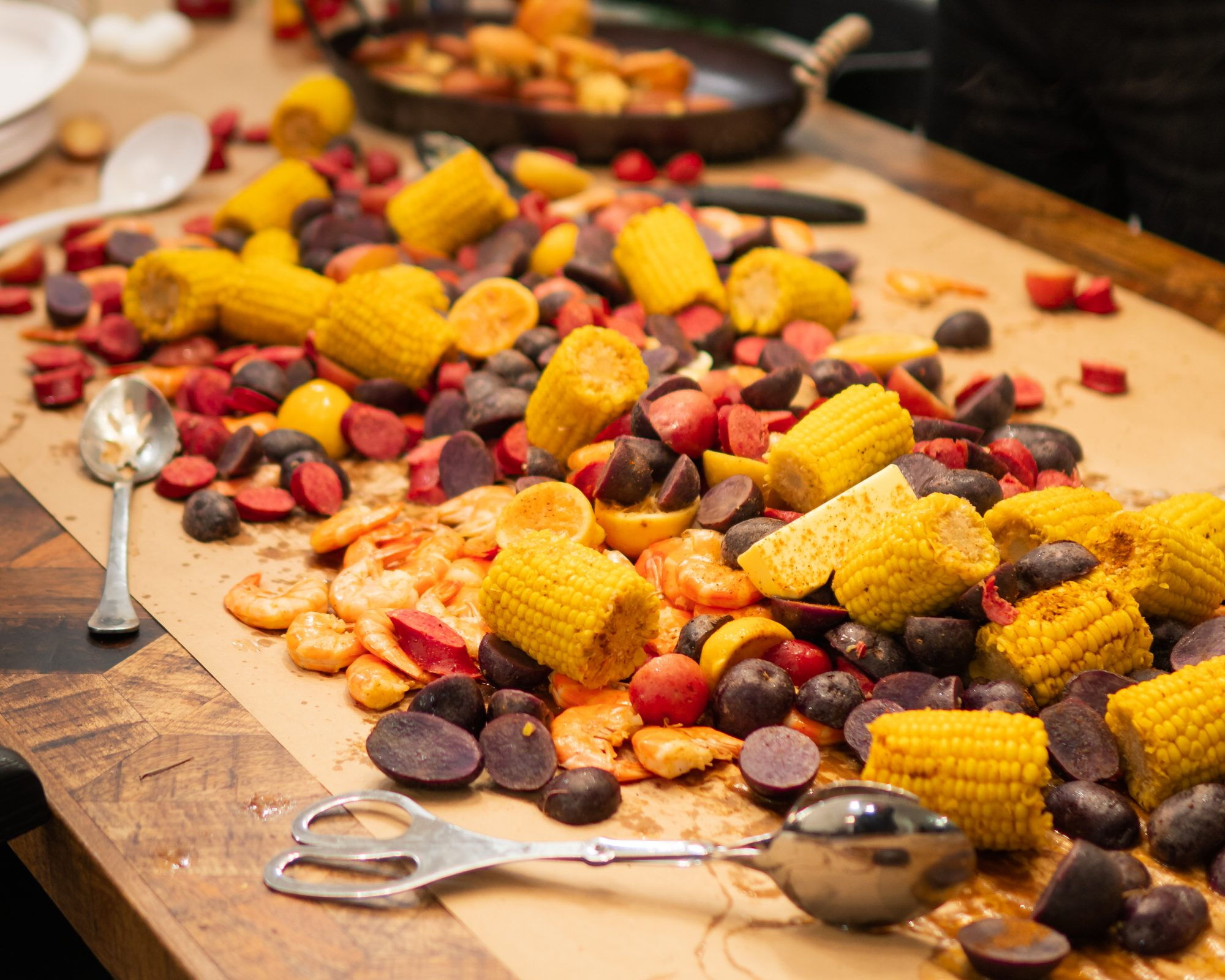 Rinehart Family Lowcountry Boil Closeup