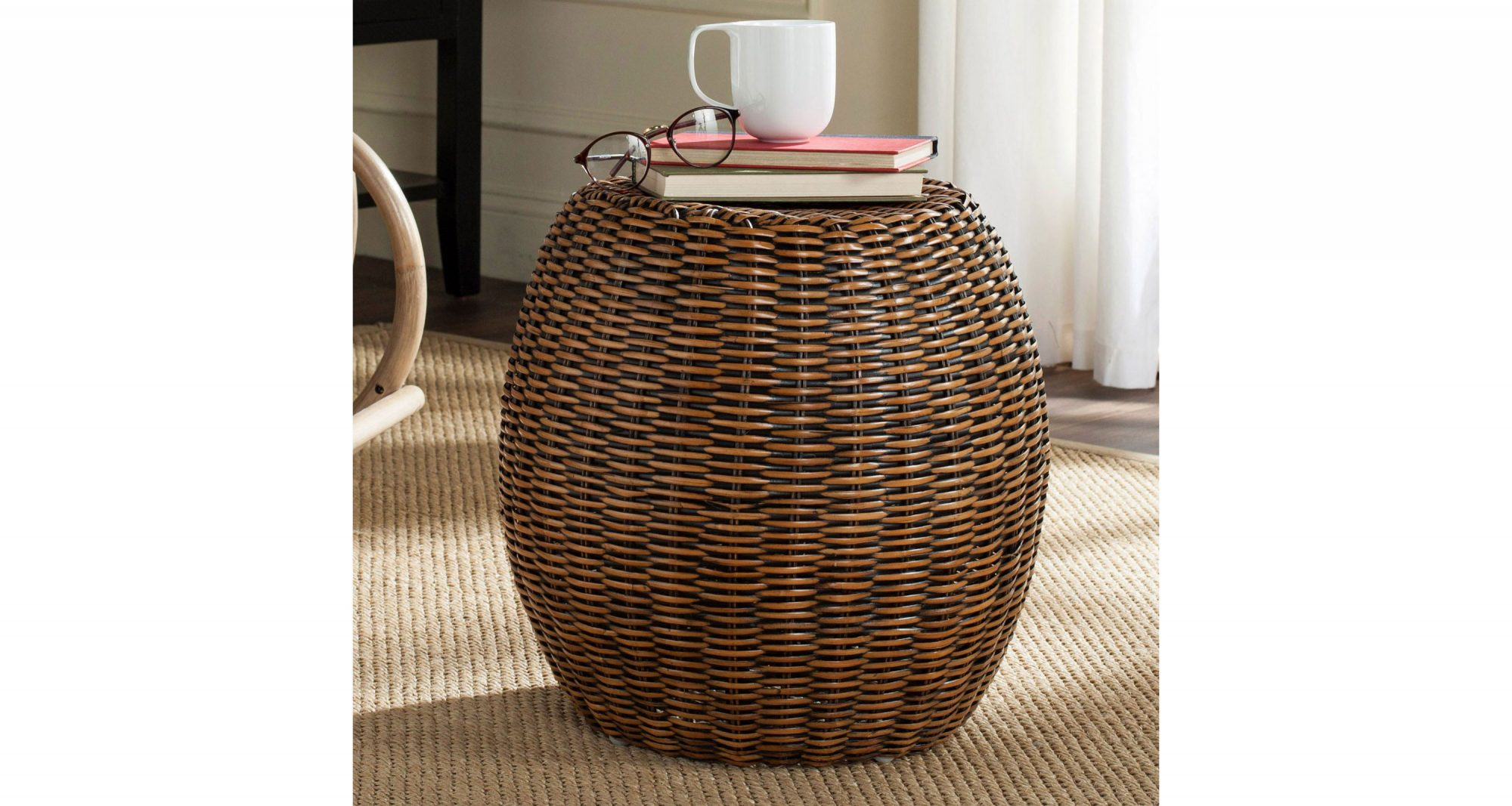 Safavieh Remi Rattan End Table
