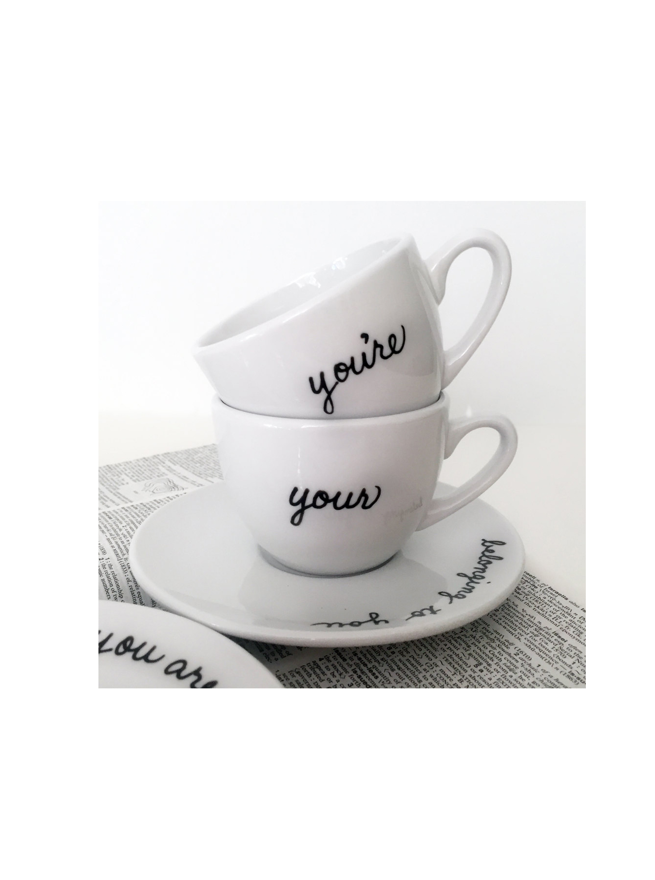 Grammar Teacup and Saucer (Set of 2)