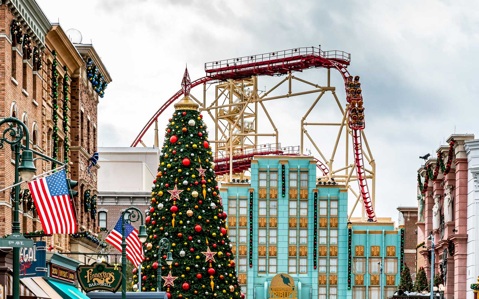 Christmas at Universal Studios theme park