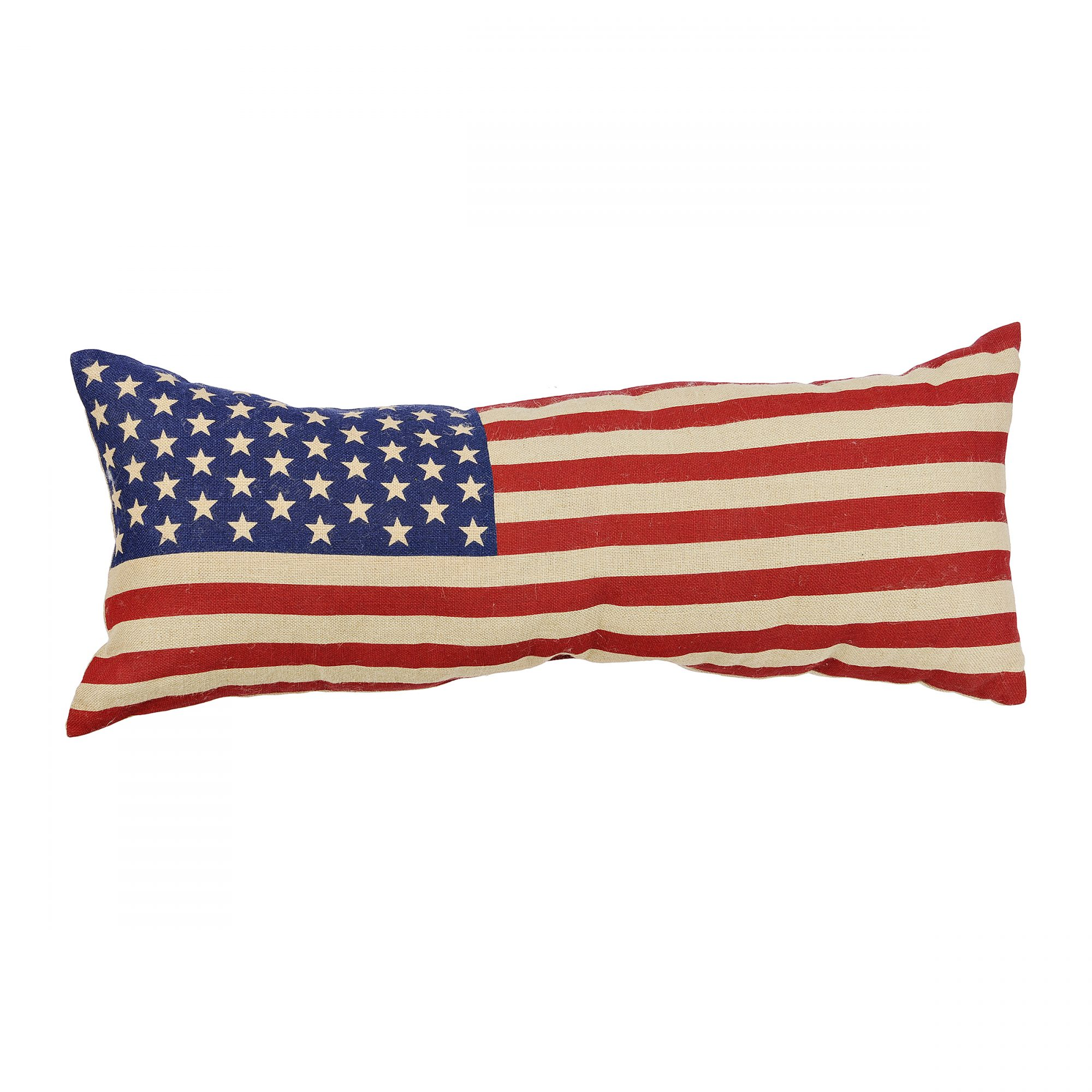 American Flag Bench Pillow