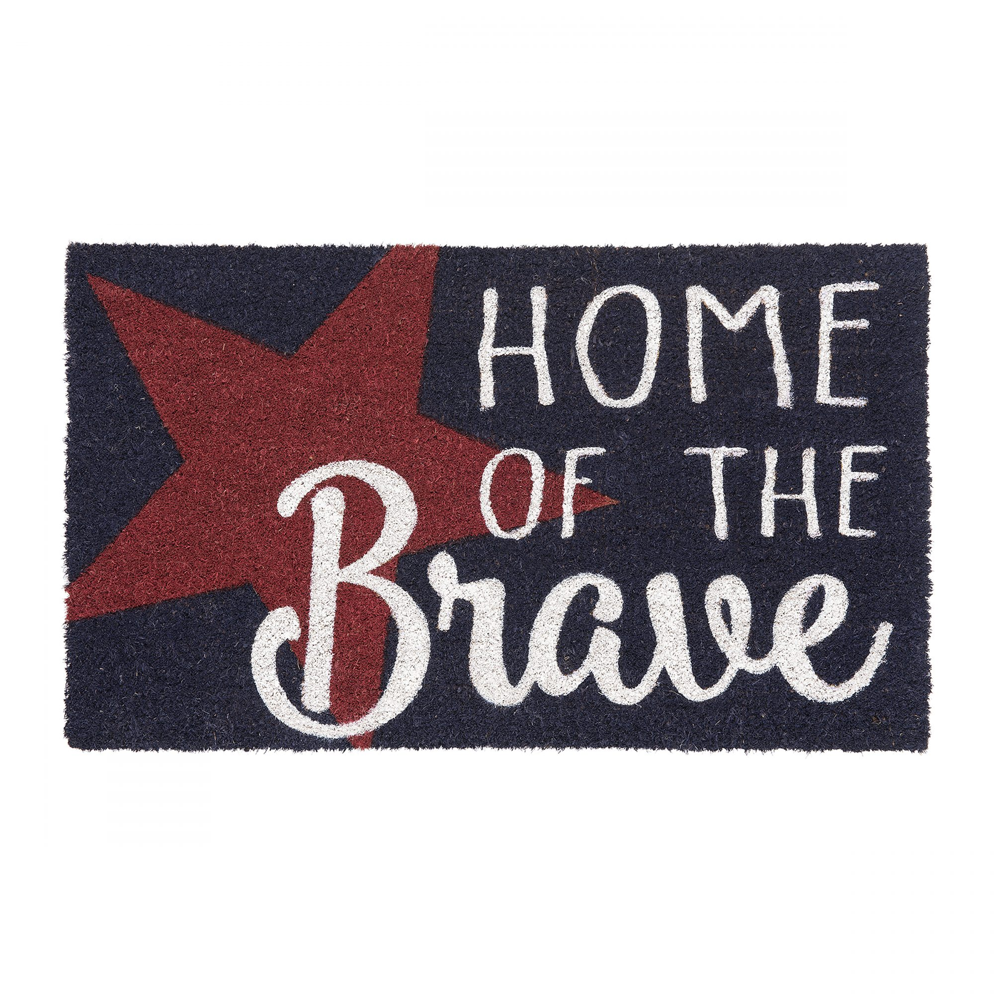 Home of the Brave Coir Doormat