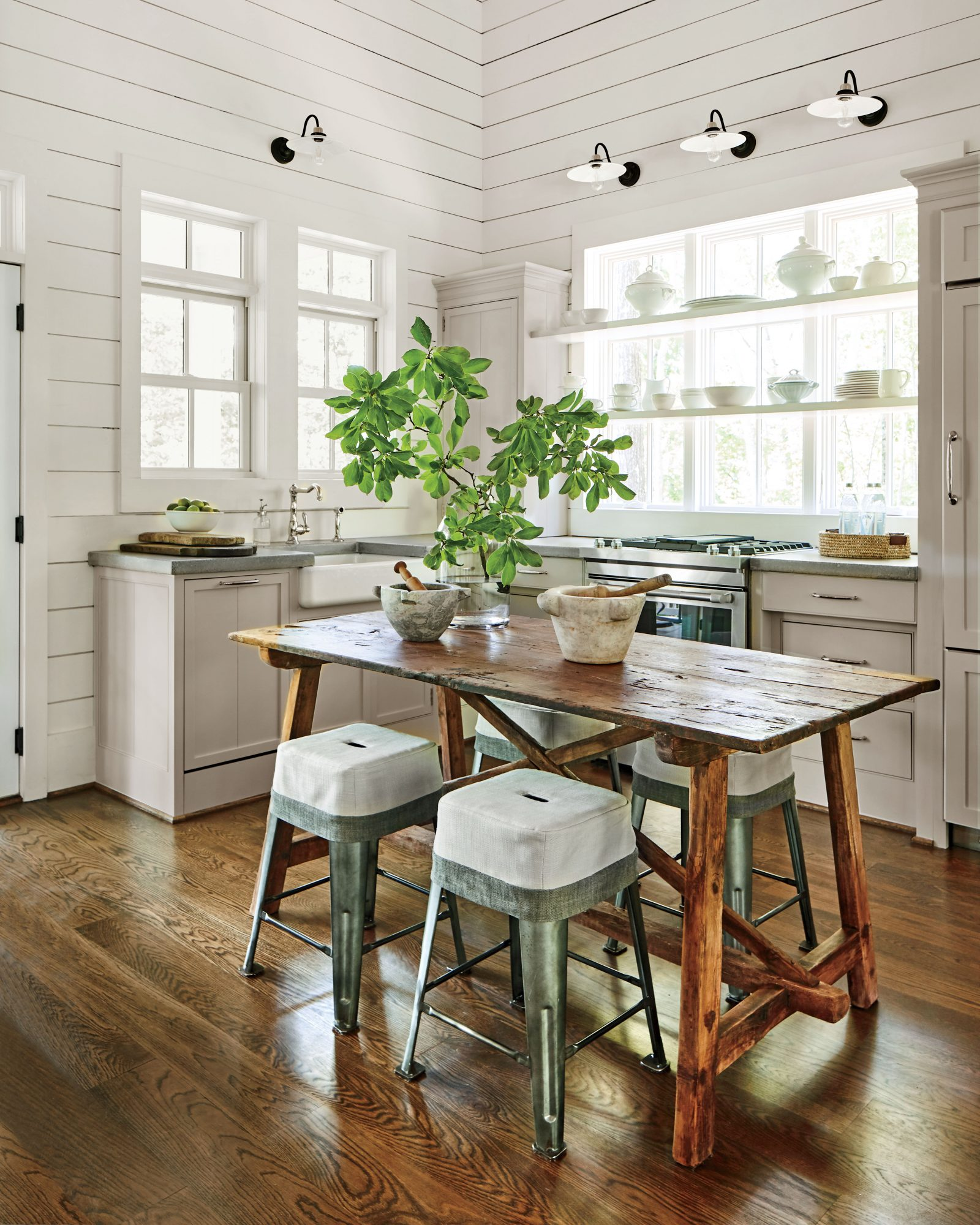 Small Modern Pendants Kitchen