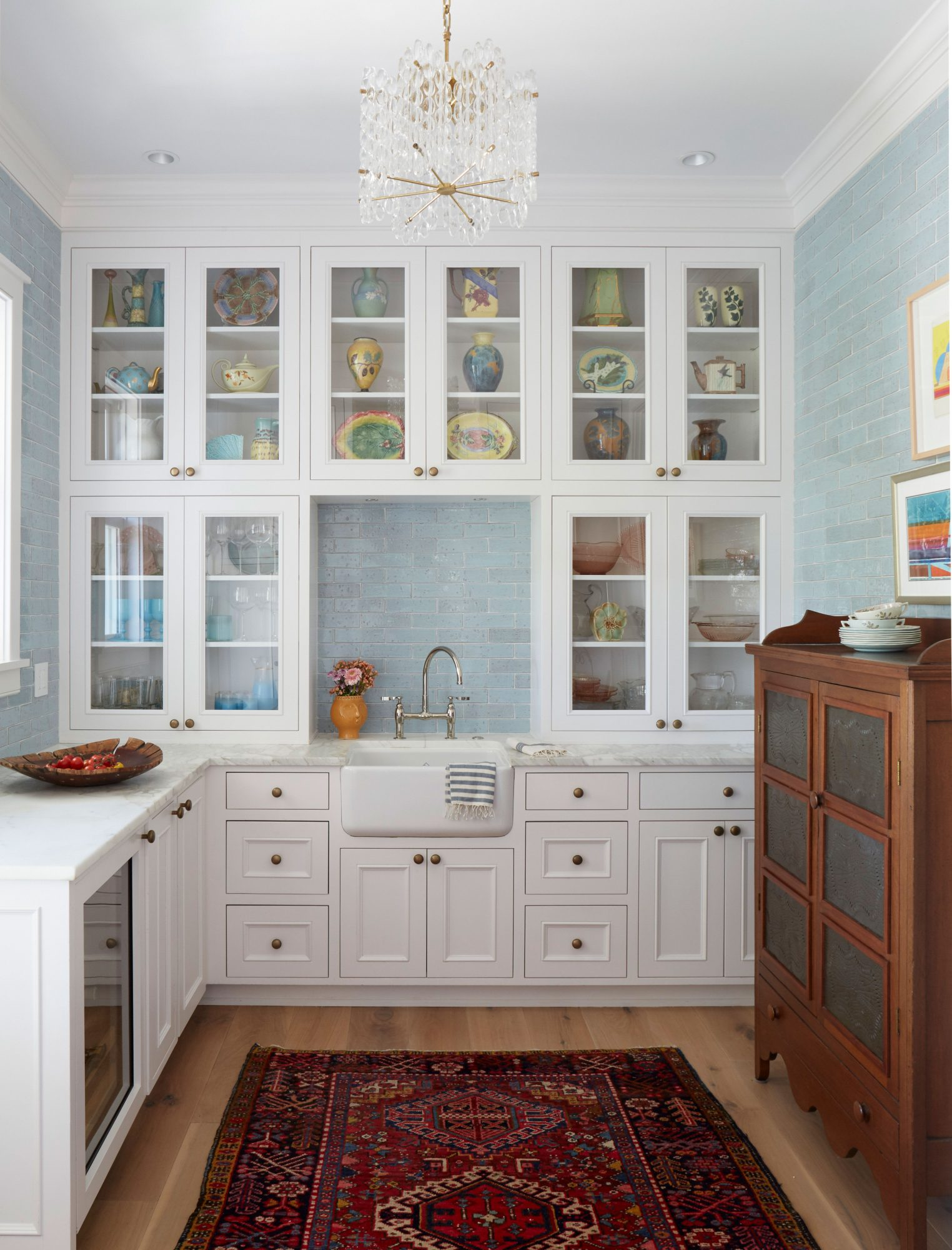 Jenny Keenan Designed Butler's Pantry in Her Parents Home in Mount Pleasant, SC