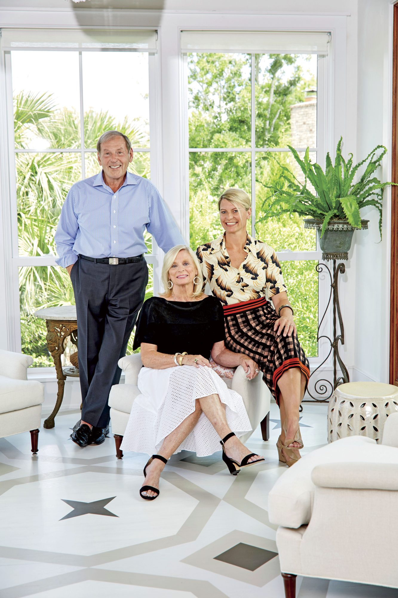 Jenny Keenan and Her Parents Joan and John Hackenberg in Their Home in Mount Pleasant, SC