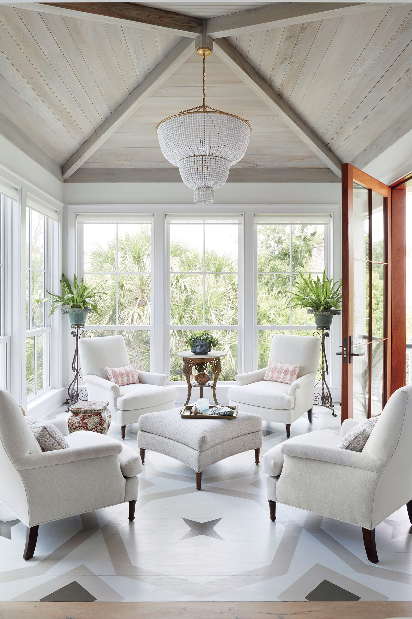 Jenny Keenan Sunroom Designed for Her Parents in Mount Pleasant, SC