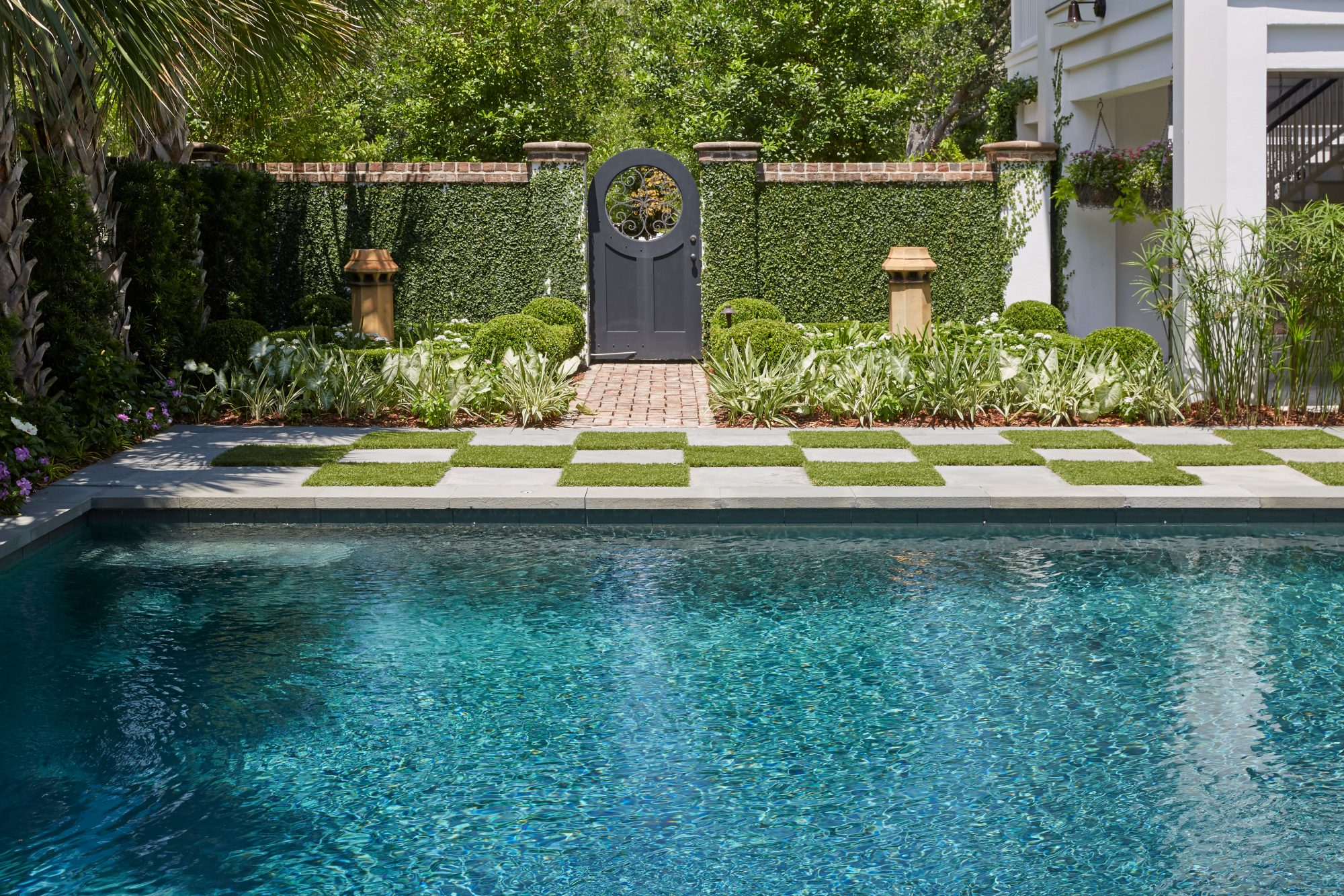 Jenny Keenan Designed Home for Her Parents in Mount Pleasant, SC Pool and Fence