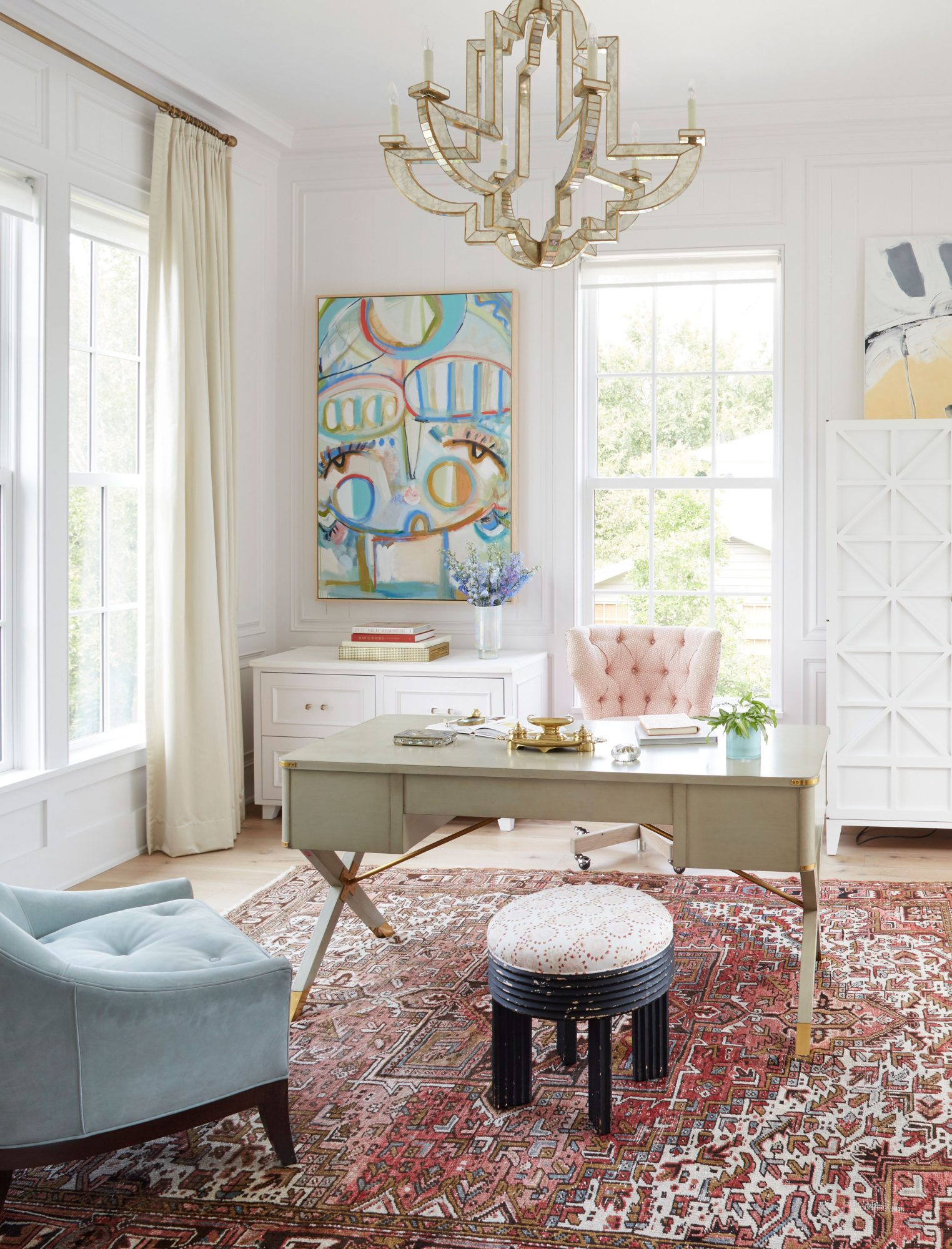 Jenny Keenan Designed House for Her Parents Home Office in Mount Pleasant, SC