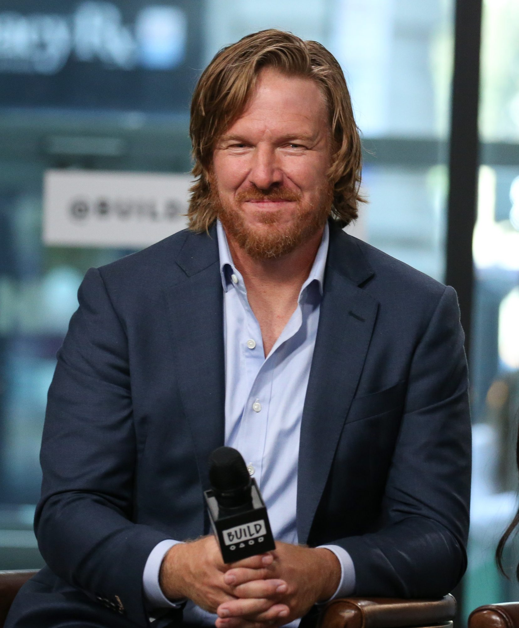 Chip Gaines Sitting Down on TV