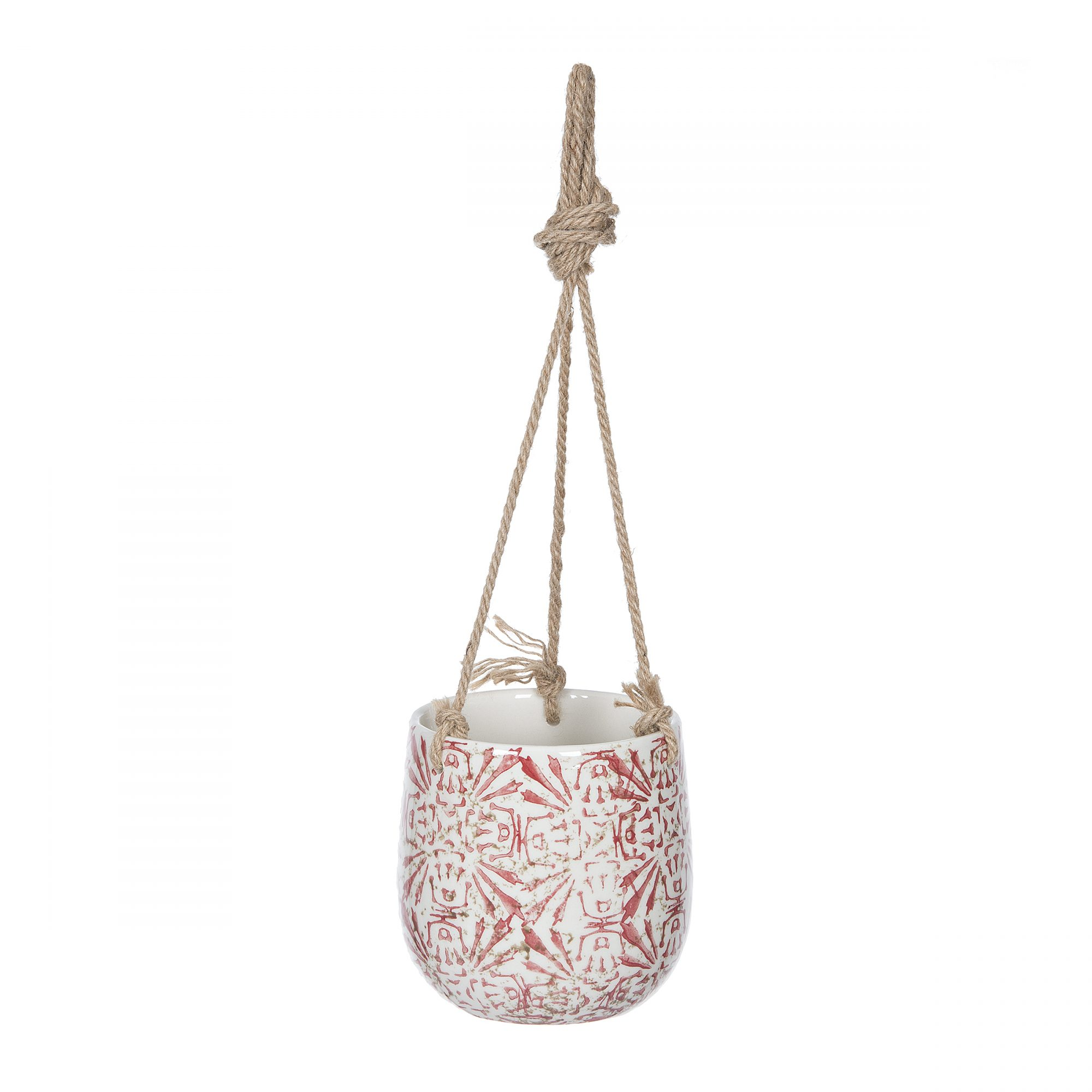 Red Tribal Pattern Hanging Planter, $10.99